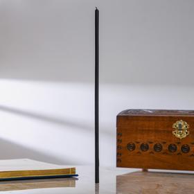 Свечи восковые одночасовые, 5 шт, 0,5×15 см, цвет чёрный