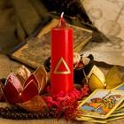 Свеча стихийная «Огонь», цвет красный, 3,8×14 см