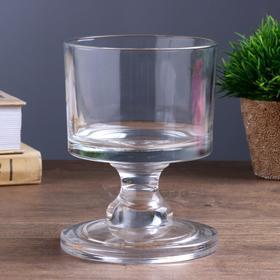 "Подсвечник стекло на 1 свечу ""Широкий низкий бокал"" прозрачный 14,5х11х11 см"