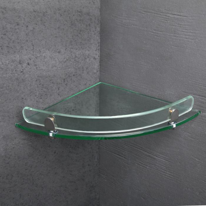 Полка для ванной комнаты 37×23,5×5 см, стекло
