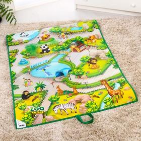 Игровой развивающий коврик «Зоопарк 3D», 90х120см