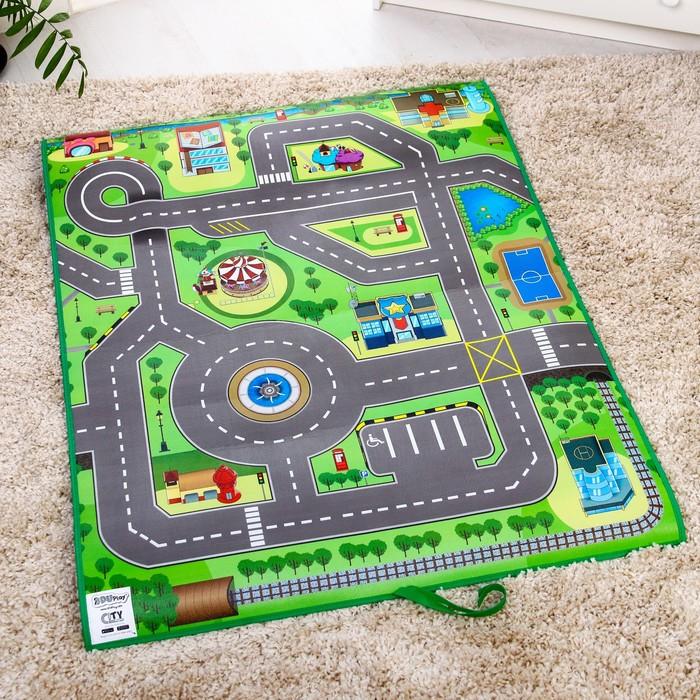 Игровой развивающий коврик «Твой город 3D», 90х120см