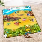 Игровой развивающий коврик «Динопарк 3D», 90х120см - фото 76132445