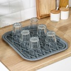 Поднос с вкладышем для сушки посуды Альт-Пласт «Колос», 45,5×36 см, цвет МИКС