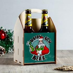"""Ящик под пиво """"С Новым Годом!"""" Дед Мороз и бутылки в Донецке"""
