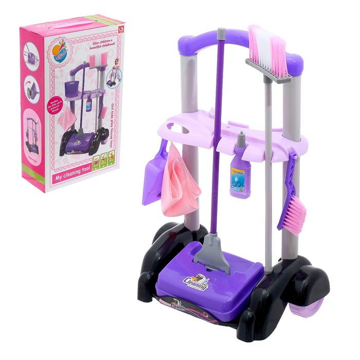 Игровой набор для уборки «Заботливая хозяйка», на колёсах - фото 105579053