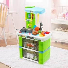 Игровой набор «Кухня для поварёнка» с аксессуарами, со световыми и звуковыми эффектами
