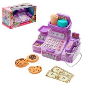 Игровой набор касса «Весёлый магазинчик» с аксессуарами, со световыми и звуковыми эффектами