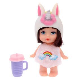 Пупс «Единорожка» в костюме, с аксессуарами, цвета МИКС