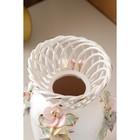 """Ваза настольная """"Елена"""", цветная лепка, плетение, 33 см, микс, керамика - фото 7460344"""