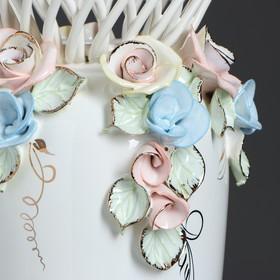 """Ваза настольная """"Елена"""", цветная лепка, плетение, 33 см, микс, керамика - фото 7460346"""
