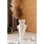 """Ваза настольная """"Кокетка"""", керамика, цветы, цветная лепка, плетение, золотистая роспись, 29 см, микс - фото 7460347"""