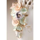 """Ваза настольная """"Кокетка"""", керамика, цветы, цветная лепка, плетение, золотистая роспись, 29 см, микс - фото 7460351"""