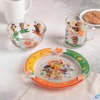 Набор посуды детский «44 котёнка», 3 предмета - фото 105460022
