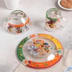 Набор посуды детский «44 котёнка», 3 предмета - фото 105460024