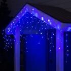 "Гирлянда ""Бахрома"" уличная, УМС, 3 х 0.6 м, 3W LED-160/50-220V, мерцание, нить прозрачная, свечение синее"