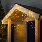 "Гирлянда ""Бахрома"" уличная, УМС, 3 х 0.6 м, 3W LED(SMD-SB)-160-220V, нить прозрачная, свечение тёплое белое"