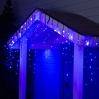 "Гирлянда ""Бахрома"" уличная, УМС, 3 х 0.6 м, 3W LED(SMD-SB)-160-220V, нить тёмная, свечение синее"