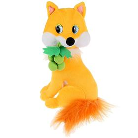 Мягкая игрушка «Лисичка с виноградом» 22 см, воспроизводит стихи Дружининой