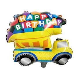 """Шар фольгированный 24"""" """"С днем рождения"""", грузовик, цвет жёлтый"""