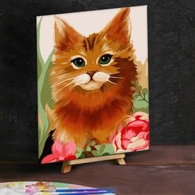 Картина по номерам с дополнительными элементами «Рыжий кот», 30х40 см