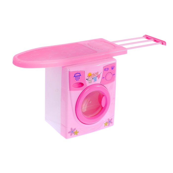 Набор бытовой техники «Уютный дом»: утюг, стиральная машина, барабан вращается