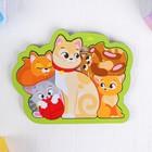 """Головоломка пазл """"Кошка с котятами"""" для самых маленьких - фото 105588076"""