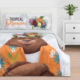 """Постельное белье """"Этель"""" 1.5 сп Tropical dream 143*215 см,150*214 см, 50*70+3 - 2 шт"""