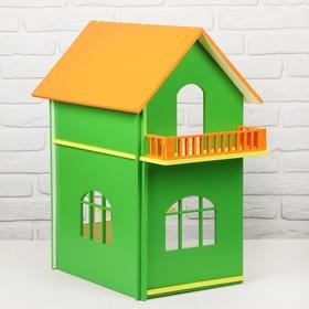 Двухэтажный кукольный домик, цветной