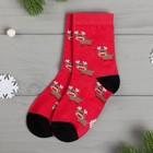"""Socks kids KAFTAN """"Deer"""" R-R 14-16, red"""