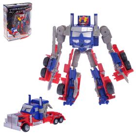 """Робот-трансформер """"Оптимус"""", звуковые эффекты, цвета МИКС"""