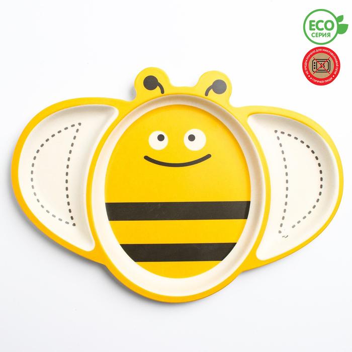 """Тарелка детская """"Пчелка"""", бамбук"""