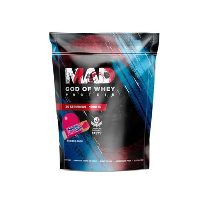 The MAD GOD OF protein WHEY (package) bubble-gum 1000 g .