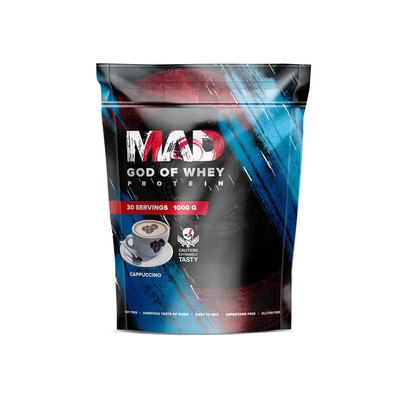 The MAD GOD OF protein WHEY, (bag ) cappuccino 1000.