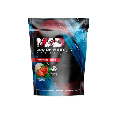 The MAD GOD OF protein WHEY (package ) strawberry 1000 g