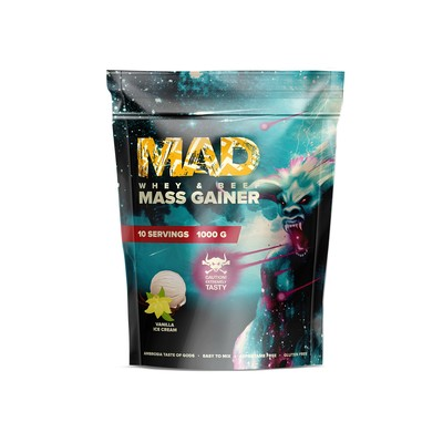 MAD gainer WHEY & BEEF MASS GAINER, vanilla 1000 g