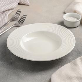 Тарелка для пасты «Белла», 22 см, 290 мл, цвет белый