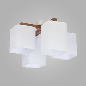 Люстра Tora White, 4x60Вт E27, цвет белый
