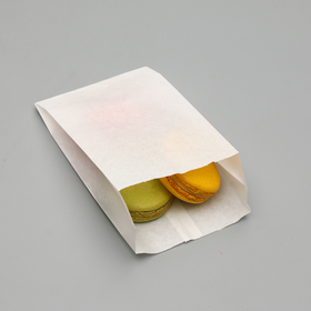 Пакет бумажный фасовочный, белый, V-образное дно, 17,5 х 10 х 5 см