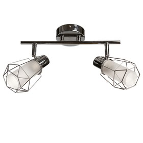 0408/2 2x40W lamp E14 chrome 30x19x16cm
