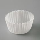 Tartlet, white, 2.5 x 1.6 cm