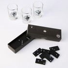 """Gift set of Glasses and dominoes """"Best of the best"""""""