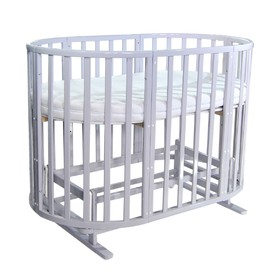 Кроватка детская 7 в 1 Allure, с поперечным маятником, цвет gray