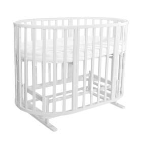 Кроватка детская 7 в 1 Allure, с поперечным маятником, цвет milk