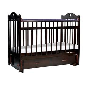 Кроватка детская Love c ящиком и маятником, цвет chocolate