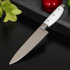 Нож кухонный Доляна «Инканто», лезвие 15 см, цвет белый