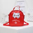 Детская сумка-рюкзак, отдел на молнии, цвет красный