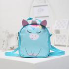 Детская сумка-рюкзак, отдел на молнии, цвет голубой