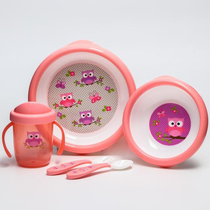 Набор детской посуды Uviton, цвет розовый