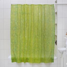 Штора для ванной комнаты Доляна «Бамбук», 180×180 см, EVA, цвет зелёный
